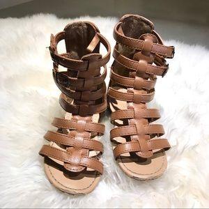 Oldnavy brown gladiator shoes toddler girl size 8